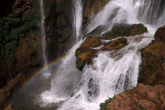 morocco ouzoudvattenfall Arkivfoto