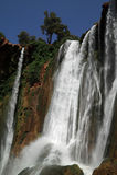 morocco ouzoudvattenfall Royaltyfria Bilder