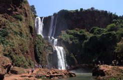 morocco ouzoudvattenfall Arkivbild