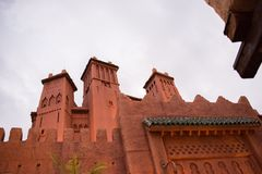 Morocco Pavilion at Epcot stock photo