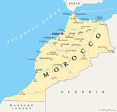 Morocco Political Map Stock Photo