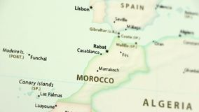 World Map With Morocco Country Map Stock Video - Video of global ...