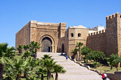 Morocco, Rabat. The entrance to the old  Oudaia Kasbah on the skirt of Rabat near the sea Stock Image