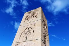 Morocco,Rabat. The Hassan Tower opposite the Mausoleum of King Mohamed V.  Stock Photos