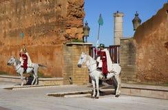 Morocco. Rabat. Royal guards at the ancient fortress. Stock Photos
