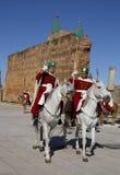 Morocco. Rabat. Royal guards at the ancient fortress. Royalty Free Stock Photo