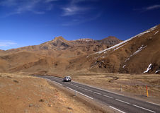 Morocco Road through High Atlas Mountains Royalty Free Stock Photography