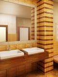 Morocco's style bathroom interioor. 3d rendering of the bathroom interior in Morocco's style vector illustration