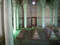 Morocco the Saadian tombs in Marrakech Royalty Free Stock Photo