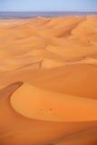 Morocco. Sand dunes of Sahara desert Royalty Free Stock Images