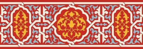 Morocco seamless border. Traditional islamic design. Morocco seamless colorful border. Traditional islamic design. Mosque decoration element vector illustration