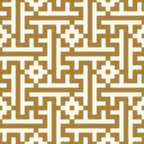 Morocco Seamless Pattern.  Ancient pixel graphic style. Royalty Free Stock Photo