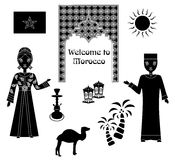 The morocco set black Royalty Free Stock Images