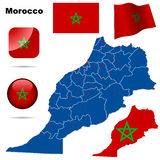 Morocco set. Royalty Free Stock Images
