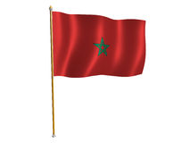 Morocco silk flag Royalty Free Stock Photos