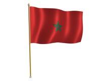 Morocco silk flag. Silk flag of Morocco Royalty Free Stock Photos