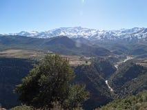 morocco Snöade kartbokberg Arkivfoto