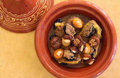 Morocco, Tajine of lamb with dried fruits Royalty Free Stock Photos