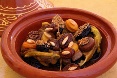 Morocco, Tajine of lamb with dried fruits Royalty Free Stock Photography