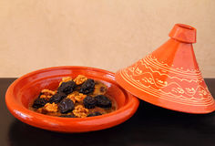 Morocco, Tajine of lamb with dried fruits Royalty Free Stock Image