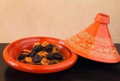 Morocco, Tajine of lamb with dried fruits Royalty Free Stock Image