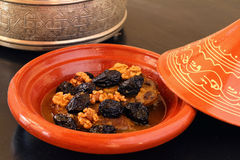 Morocco, Tajine of lamb with dried fruits Stock Photos