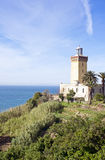 Morocco, Tangier. Cape Malabata with a lighthouse, east of Tangier Stock Photography