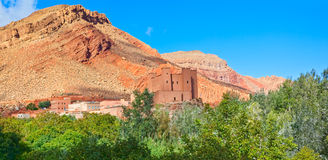 Morocco, thousand Kasbahs valley Royalty Free Stock Photos