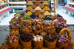 Morocco Traditional Market with condiments Royalty Free Stock Photos
