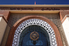 Morocco. The train station in Marrakesh Royalty Free Stock Photography