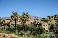 Morocco, Village in the Anti-Atlas mountains Royalty Free Stock Images