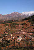 Morocco village in Atlas Mountains Royalty Free Stock Images