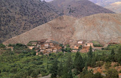Morocco Village in Atlas Mountains Royalty Free Stock Photos