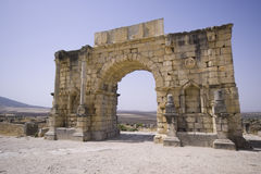 Morocco - Volubilis. Volubilis  is an archaeological site in Morocco situated near Meknes between Fez and Rabat Stock Photo