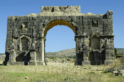 Morocco, Volubilis. Morocco, Unesco world heritage site of ancient Roman settlement Volubilis aka Walili Stock Images