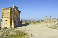 Morocco, Volubilis. Morocco, Unesco world heritage site of ancient Roman settlement Volubilis aka Walili Stock Photography