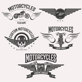 Morocycle logo set Stock Images