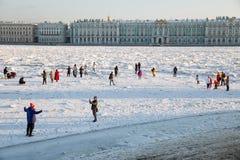 Morones en el Neva imagen de archivo libre de regalías
