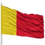 Moroni City Flag sur le mât de drapeau Images stock