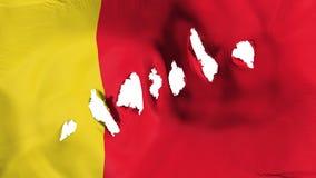 Moroni-Flagge durchlöcherte, Einschusslöcher lizenzfreie abbildung