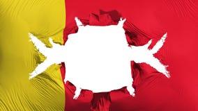 Moroni-Flagge mit einem großen Loch lizenzfreie abbildung