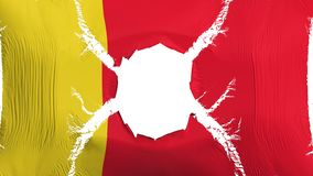 Moroni-Flagge mit einem Loch lizenzfreie abbildung