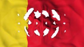 Moroni-Flagge mit kleine Löcher lizenzfreie abbildung