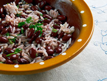 Moros y Cristianos. Famous Cuban dish.version of rice and beans Stock Images