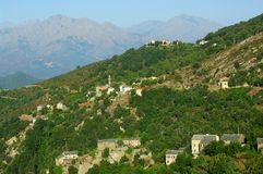 Morosaglia, corsica village Royalty Free Stock Images