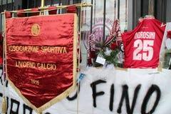 morosini Λιβόρνου ποδοσφαίρου εορτασμού Στοκ Εικόνες