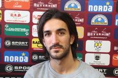 Morosini de la presentación de Livorno del fútbol Imagen de archivo libre de regalías