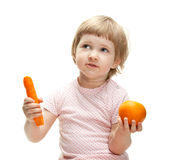 morotflicka little orange uppvisning Royaltyfri Foto