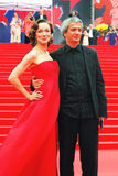 Moroz and Bogomolov at Moscow Film Festival Royalty Free Stock Photography