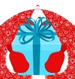 Moroz e regalo di Santa Claus Ded del Russo Santa della Russia Fath Fotografia Stock Libera da Diritti